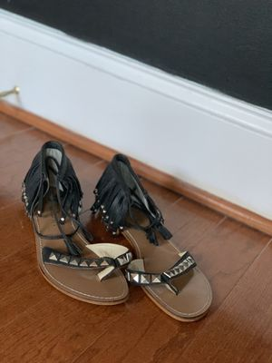 Summer ready: fringe leather sandal for Sale in Baltimore, MD