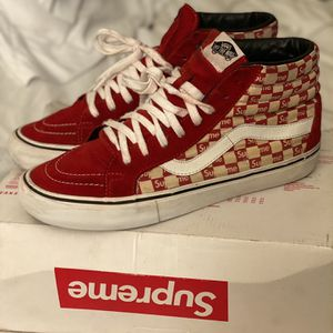 Red Supreme Checkered Vans for Sale in Las Vegas, NV