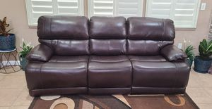 Leather Power Reclining Sofa with Power Headrests for Sale in Sacramento, CA