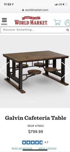 Galvin Cafeteria Table for Sale in Seattle, WA