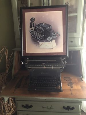 Antique / Vintage Typewriter and signed Picture Office / Desk Decor for Sale in Stockton, CA