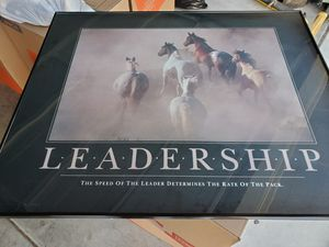Beautiful LEADERSHIP framed picture for Sale in Poway, CA