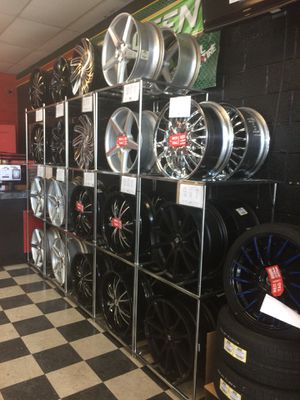 Today only lets get you rolling with wheels and tires for $50 on in store inventory for Sale in Lakeland, FL