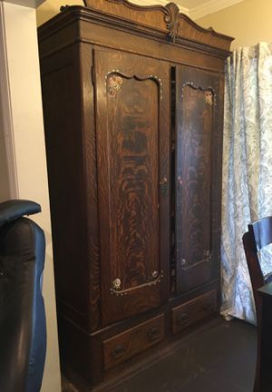 Antique armoire with two bottom drawers for Sale in San Fernando, CA