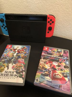 Nintendo switch with games for Sale in Kissimmee, FL