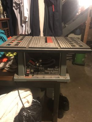 Delta table saw 10 inch for Sale in Verona, PA