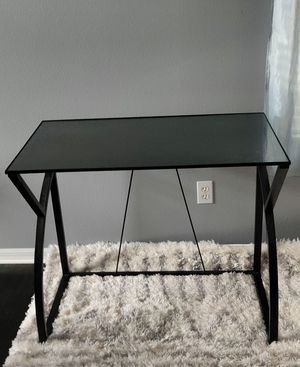 Office computer desk table with removable glass top for Sale in Orlando, FL