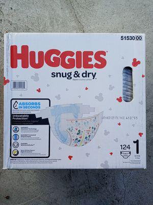 Huggies snug dry size 1/124 diapers for Sale in Gardena, CA