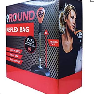 New! Sunny Days Entertainment 9Round Reflex Bag with Stand - Height Adjustable and Free Standing for at Home Fitness Training(LS) for Sale in Upland, CA