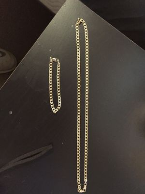 14k Pure Gold Chain Necklace, and bracelet. for Sale in Acworth, GA