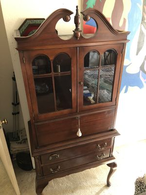 Antique French provincial secretary desk cabinet for Sale in Tigard, OR