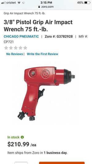 Chicago Pneumatic CP721 General Duty 3/8-Inch Impact Wrench for Sale in Oakland, CA