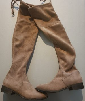 Womens Brown Suede Knee High Boots Size 6.5 for Sale in Landover, MD