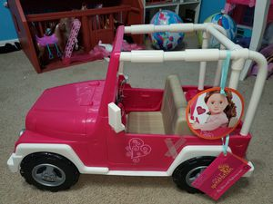 Our Generation Doll Jeep (American Girl Doll similar) for Sale in Richmond, TX