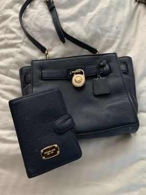 Blue Michael kors crossbody and matching wallet for Sale in Fort Lauderdale, FL
