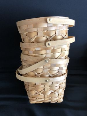 Baskets woven 4 Lot- fall Decoration. Pantry, crafts resell for Sale in Clarksburg, MD