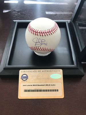 Jed Lowrie MLB signed baseball, Mets, Red Sox, Astros, Athletics COA for Sale in Fort Meade, MD