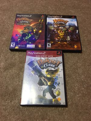 Ps2 ratchet game Lot Of 3- tested for Sale in Davenport, IA