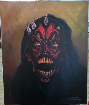 """Star Wars painting, Darth Maul 24""""x20"""" for Sale in Dinuba, CA"""