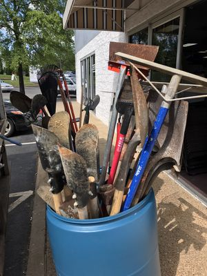 Yard and garden tools. Rakes shovels post digger for Sale in Bristow, VA