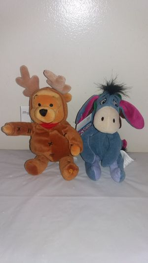New With Tags Disney Reindeer Eeyore and Pooh Beanie Babies for Sale in Downers Grove, IL