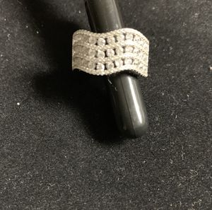 Sterling Silver Triple Wave Clear CZ Ring for Sale in Quincy, IL