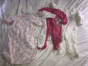 Baby Girl Pajama Lot 3, 6, and 12 Months for Sale in Charlottesville, VA
