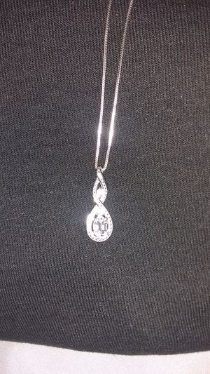 Sterling Silver Diamond Pendent Necklace with Diamonds for Sale in South Salt Lake, UT