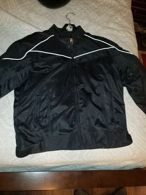 Bilt motorcycle jacket, Harley Davidson helmet, another helmet and gloves for Sale in Oakwood, GA