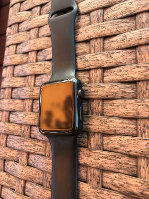 Apple Watch 42mm stainless steel black for Sale in Staten Island, NY