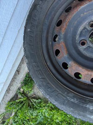 Set of 4, 185/60R15 Tires on 4x100 Steel Wheels, Mismatched for Sale in Renton, WA