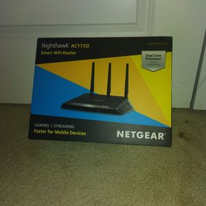 NETGEAR Nighthawk Smart WiFi Router AC1750 Wireless Speed (R6700) Gaming/Stream for Sale in Gaithersburg, MD