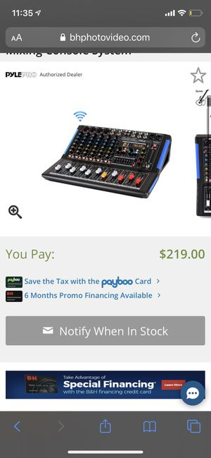 Pyle pro 8 channel audio mixer. Bluetooth enabled! for Sale in North Las Vegas, NV