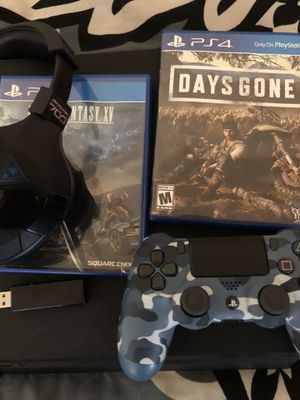 Ps4 slim W/ 2 games, 1 controller, wireless turtle beach headset for Sale in San Diego, CA
