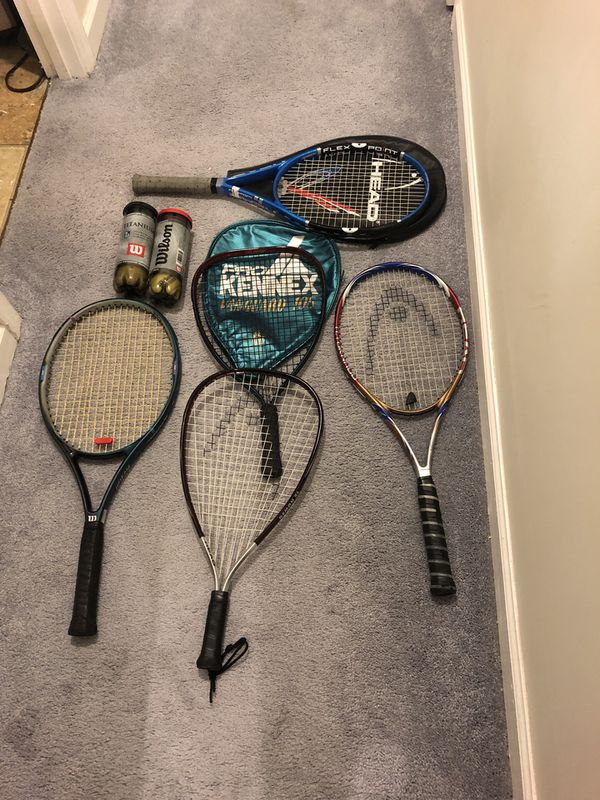 5 tennis racket with case