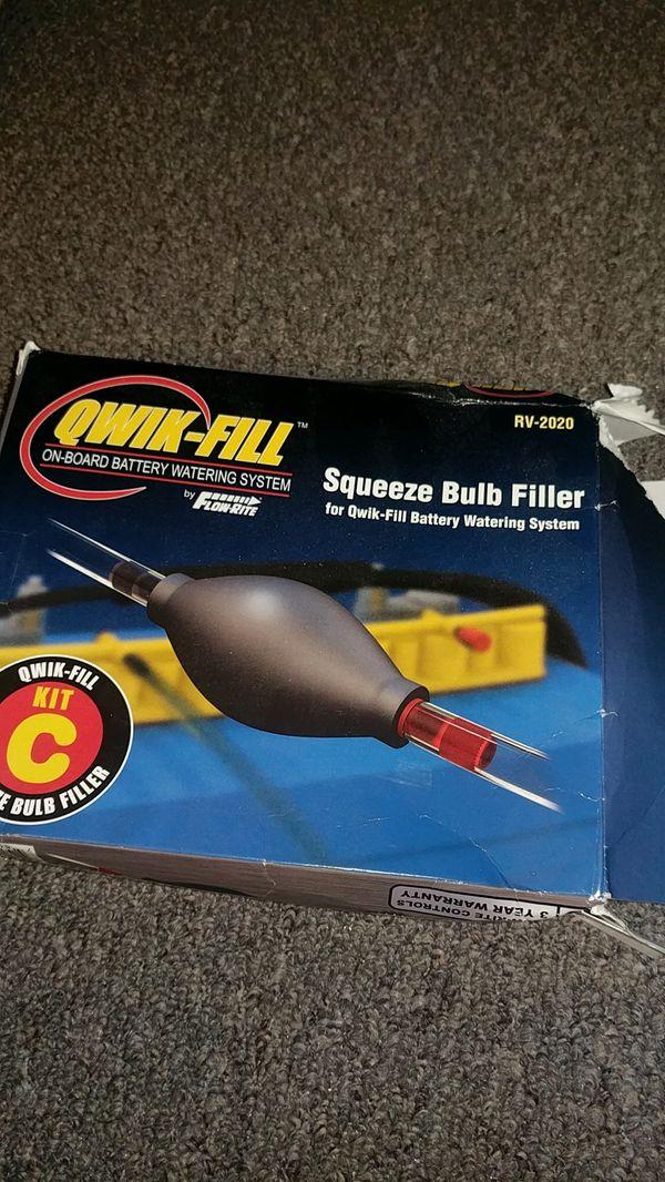 Qwik- fill squeeze bulb filler RV edition