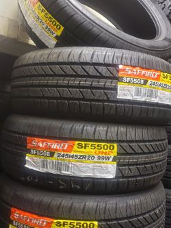 245 45 R20 TIRES BRAND NEW $480 SET OF FOUR INSTALL MOUNT AND BALANCE For Sale. Llantas Nuevas for Sale in Anaheim,  CA