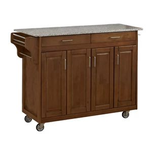 Movable kitchen island with granite counter top for Sale in BRECKNRDG HLS, MO