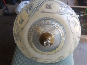 Antique glass light fixture for Sale in Chicago, IL