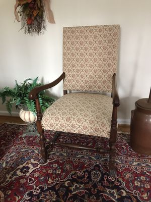 Antique High Back Chair for Sale in Ashton-Sandy Spring, MD