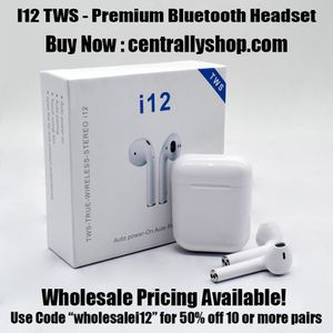 Wireless Bluetooth earbuds ; wireless Bluetooth headset headphones - i12 TWS for Sale in Cape Coral, FL