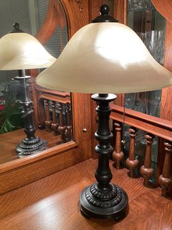 Lamp - Dark Bronze With Opaque Glass Shade for Sale in Redmond,  WA