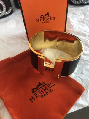 Hermes wide black cuff for Sale in Los Angeles, CA