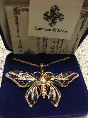 Camrose & Kross' Jacqueline Kennedy Butterfly pin/pendant (NEW) for Sale in Powder Springs, GA