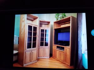 Large 3 piece Entertainment Center ($400 or Best Offer) for Sale in Ludlow, MA