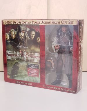 "Pirates Of The Caribbean At Worlds End 2 Disc DVD Set + 7"" NECA Captain Teague Action Figure for Sale in Chicago, IL"