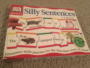 Silly Sentences 1-4 player Puzzle Game for Sale in Round Rock, TX