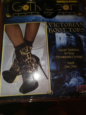 Victorian Boot tops. For a Halloween costume for Sale in Phoenix, AZ