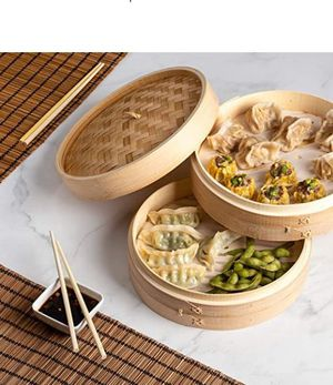 """Eating Can Be Healthy & Delicious! For the Food Lover in All of Us!! 10"""" Bamboo Steamer Basket for Sale in Frederick, MD"""