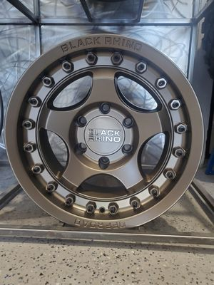 17x8.5 black rhino bantam bronze wheels 5x5 5x127 offset -10 gits jeep wrangler rim wheel tire shop for Sale in Tempe, AZ